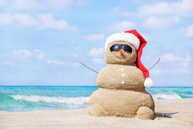 snow man made of sand