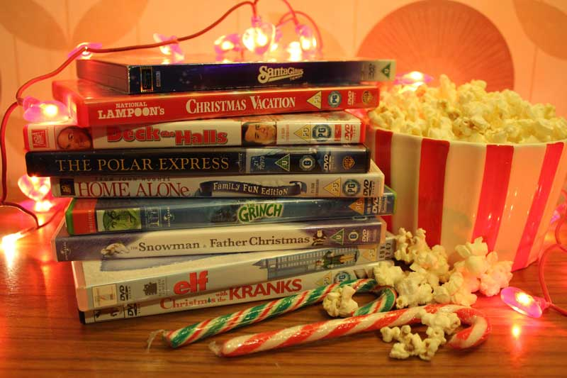 holiday movies on table