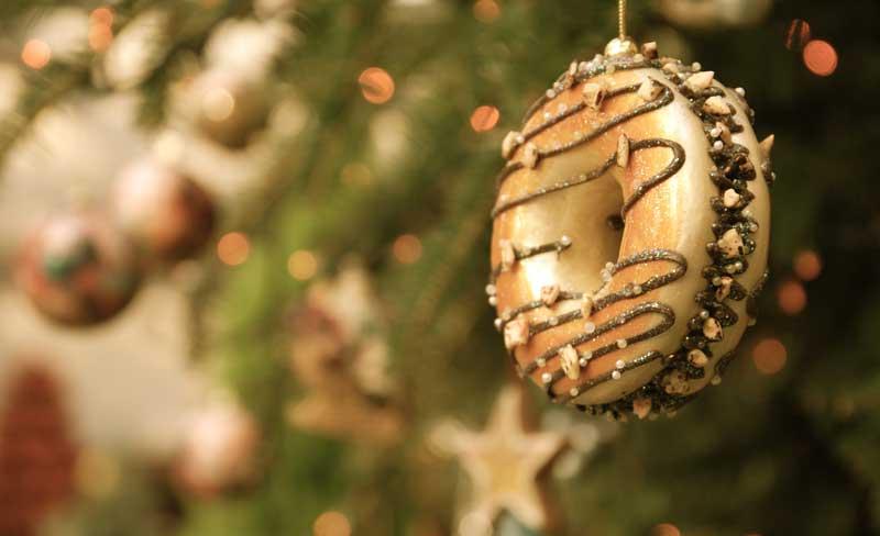 donut tree ornament