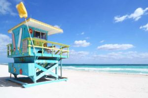 cabana on beach in miami