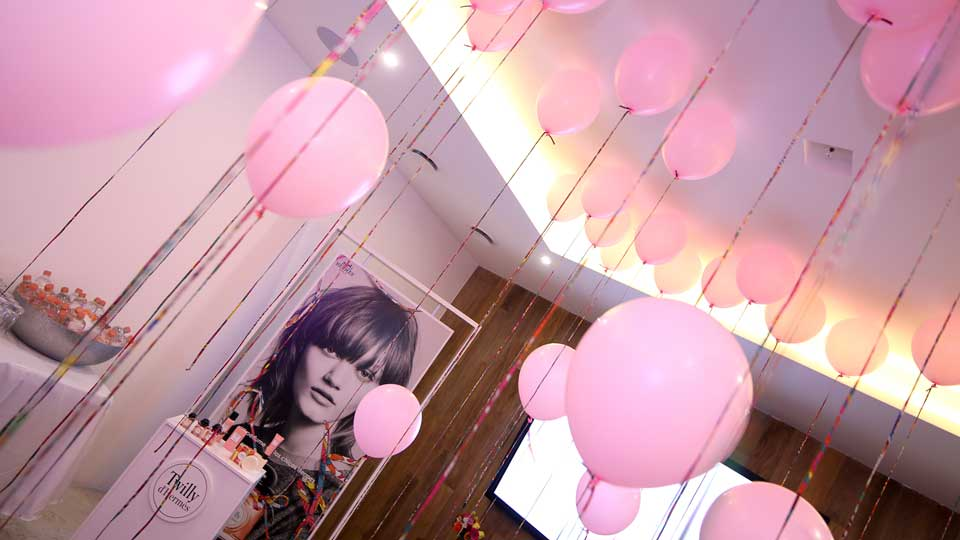event room with balloon