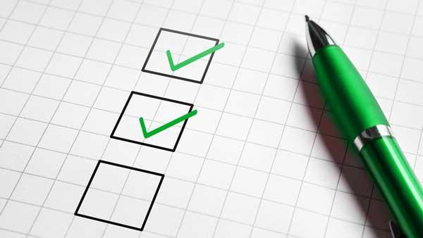 incentive checklist