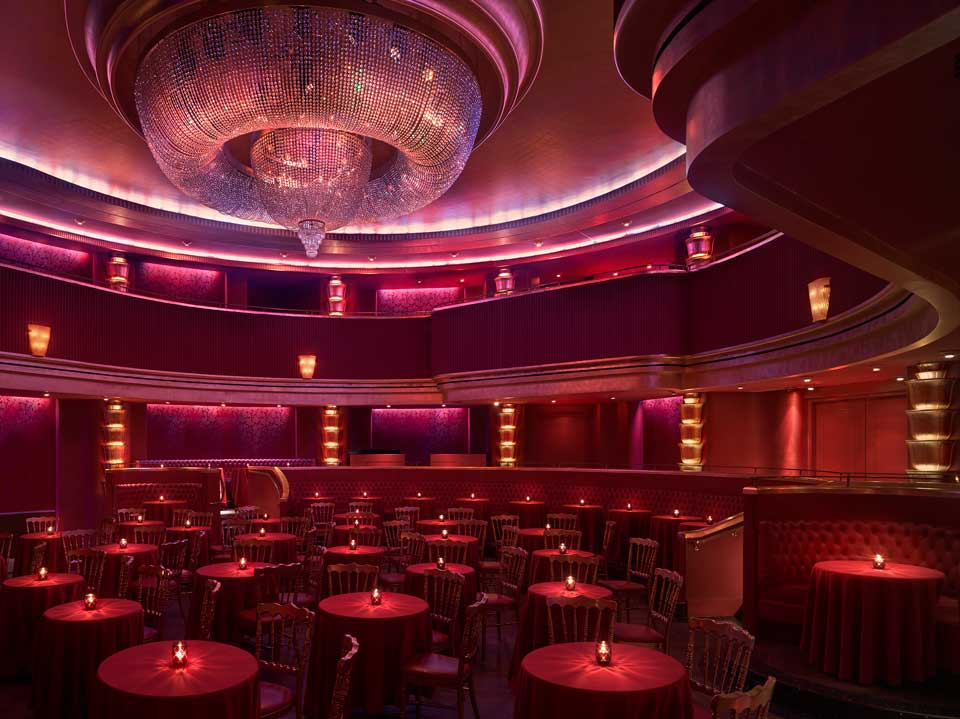 red lighting theater room