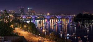 Knoxville Tennessee at night