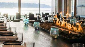 table avec feu