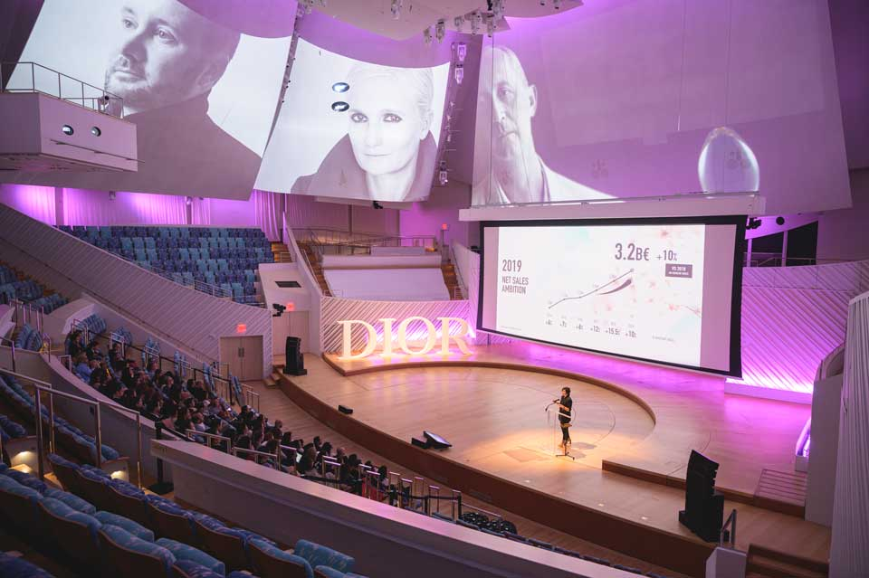 Stage for Dior Event by VIBE agency at the New World Symphony, Miami Beach
