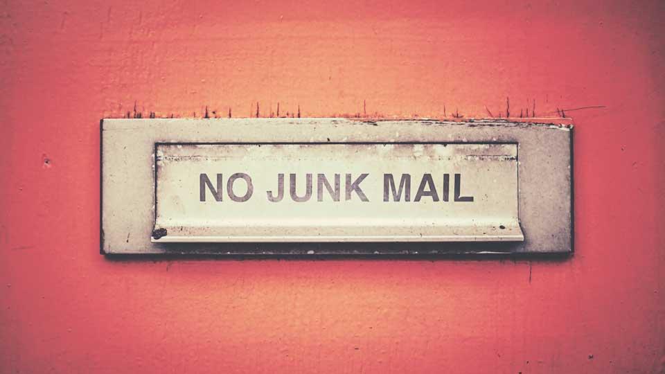 No Junk Mail abstract