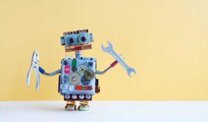 Robots holding tools