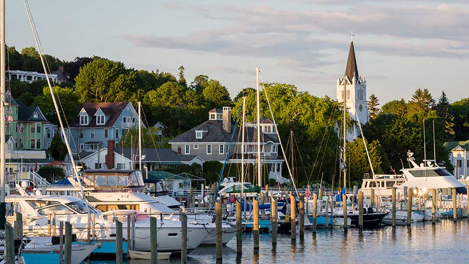 Mackinac Harbor in Mackinac Island MI