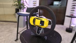 small car on a wheel