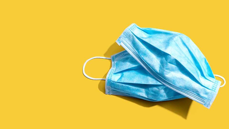 Blue surgical health masks